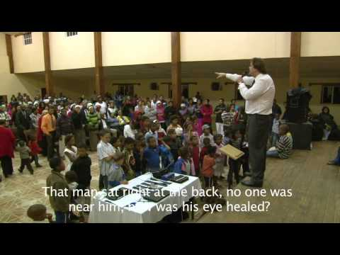 Blind eye restored! REVIVAL ministries South Africa Johann van der Hoven