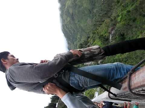 Bungee Jump in Banos, Ecuador