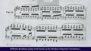Wilhelm Backhaus • Scary 6ths in Brahms-Paganini