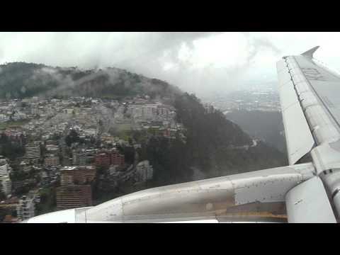 Landing on 35 at UIO on LAN Ecuador A320