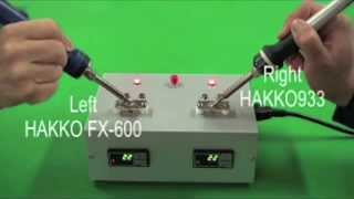 HAKKO FX-600; amazing thermal recovery