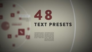 Download 48 2D/3D Text Presets For After Effects [Freebie]