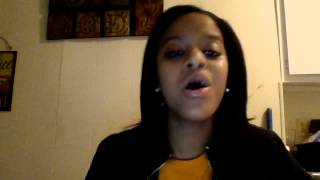 Me singing Kirk Franklin My life is in your hands