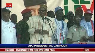 President Buhari Leads Campaign Train To Benin City Pt.5 |Live Event|