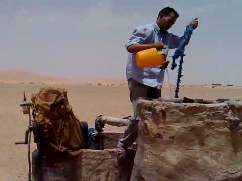Start Water Pump in Sahara Desert Morocco