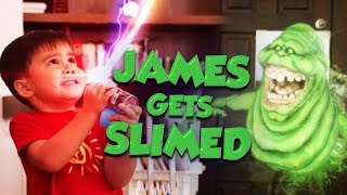 James Gets Slimed!  (Ghostbusters Style)