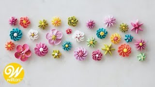 How to Pipe Flowers in Batches   Wilton