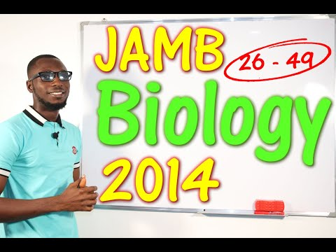 JAMB CBT Biology 2014 Past Questions 26 - 49