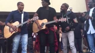 "Tye Tribbett, Mali Music, Jonathan McReynolds, Travis green, and Kj Scriven sings ""Intentional"""