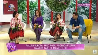 Raluca Burcea, Theo Rose și mama lor la Teo Show