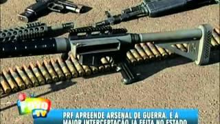 Polícia Rodoviária Federal apreende fuzis de guerra na maior apreensão de armas do estado