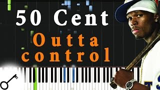 50 Cent - Outta control [Piano Tutorial] Synthesia | passkeypiano
