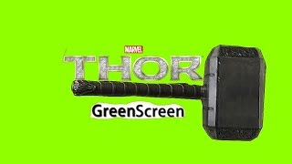 Mjölnir (Martelo do Thor) Green Screen