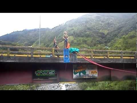 Puenting at Baños,Ecuador
