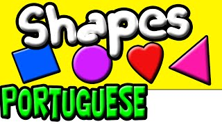 Learn Shapes in Portuguese | Brazilian Portuguese | Portuguese Kids | Speak Portuguese
