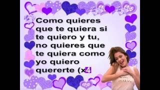 Violetta-Como Quieres-Letra