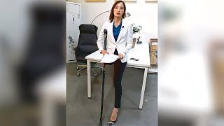 Beautiful Amputee Business Lady