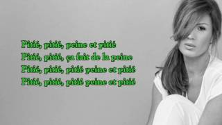 VITAA ''PEINE ET PITIE'' [LYRICS VIDEO] PAROLES DE CHANSON