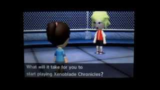 Shulk Bugging Mii To Play Xenoblade Chronicles - Tomodachi Life