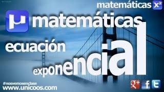 Imagen en miniatura para Ecuación exponencial