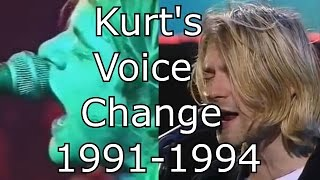 Nirvana - Come As You Are - Kurt's Voice Change 1991-1994 (Live Mix)