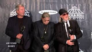 DEEP PURPLE WANTED RITCHIE BLACKMORE WITH THEM AT THE ROCK HALL, IAN GILLAN SAYS BACKSTAGE