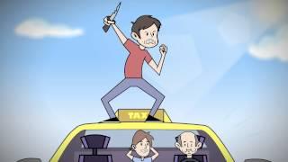Crazy Grand Theft Auto V Taxi - Larry Bundy Jr Animated
