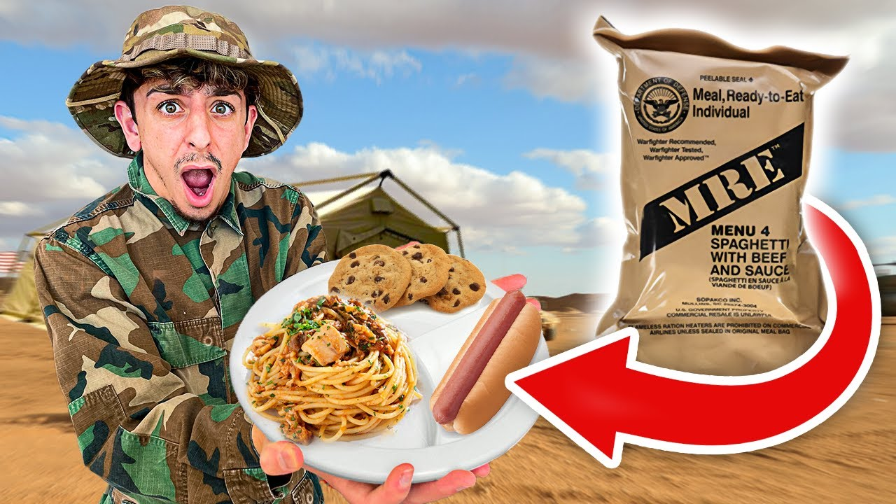 Rug - Eating ONLY Military Food for 24 HOURS!! **shocking**