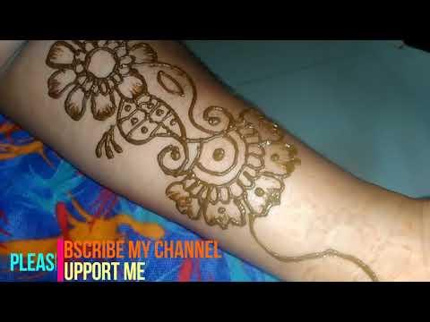 Download Thumbnail For Simple Stylish Arabic Mehndi Design