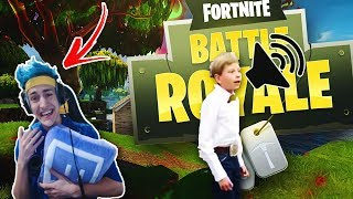 Ninja reacts to  - Walmart Yodeling Kid (REMIX) - Fortnite Battle Royale