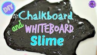 DIY CHALKBOARD & WHITEBOARD SLIME!  WRITE-ON SLIMES!!