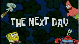 Spongebob Timecard :The Next Day