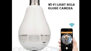 Wifi Panoramic Light Bulb Camera - HD Authentic Original Version