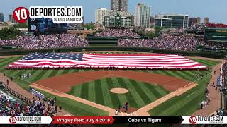Chicago Cubs Wrigley Field National Anthem July 4th 2018