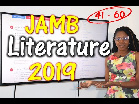 JAMB CBT Literature in English 2019 Past Questions 41 - 60