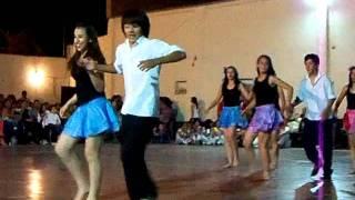 Facu bailando Merengue en la Fiesta del Instituto