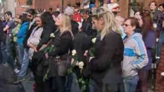 Boyzone pay tribute at Stephen Gately's funeral