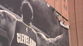 LeBron James Banner Comes Down in Cleveland