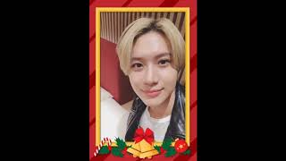 TAEMIN wishing you a Merry Christmas & Happy New Year