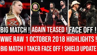 WWE Raw 1 October 2018 Highlights ! Dean Heel Turn AGAIN TEASED ! FACE OFF ! Raw 10/1/18 Highlights