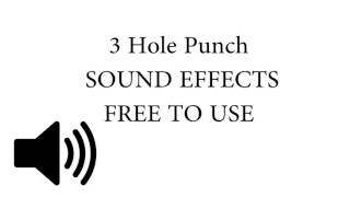 3 Hole Punching Paper SOUND EFFECT