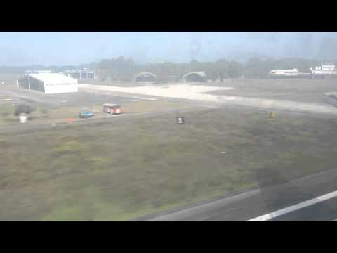 Biman DC-10-30 S2-ACO Landing in Chittagong, Bangladesh – Window View