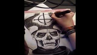 Drawing Papa Emeritus (Ghost B.C)