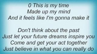 Sasha - This Is My Time Lyrics