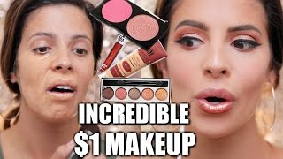 FULL FACE $1 MAKEUP | HIT OR MISS??? width=
