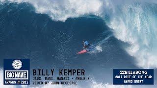 Billy Kemper at Jaws 2 - 2017 Billabong Ride of the Year Entry - WSL Big Wave Awards