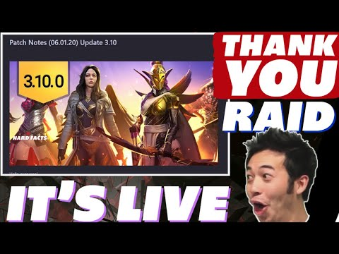 3.10 is live! OMG Thank you Raid! Raid Shadow Legends 3.10 patch update