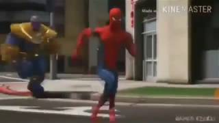 why are you running Thanos vs Spiderman avengers infinity war