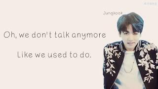 Jungkook & Jimin (BTS) - 'We Don't Talk Anymore (Pt. 2)' [Eng lyrics]
