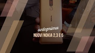 Anteprima nuovi Nokia 2, 3 e 5 2018